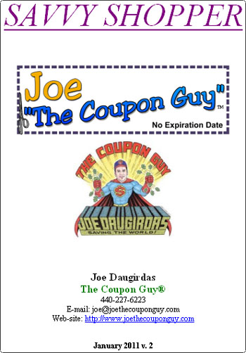 Joethecouponguy deals blog savvy shopper booklet fandeluxe